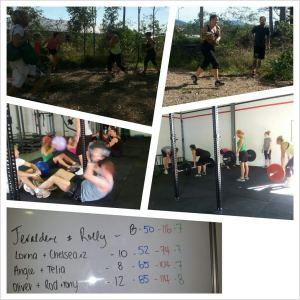 our first saturday wod