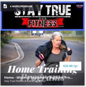 stay true minimal equipment home program