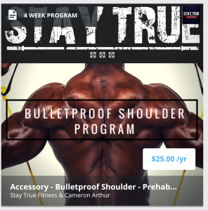 Bulletproof shoulder program